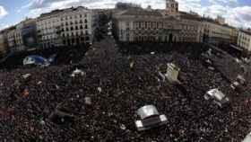 Imagen panorámica de una manifestación reciente en Madrid.