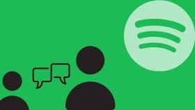 Fotomontaje con el icono de Spotify.
