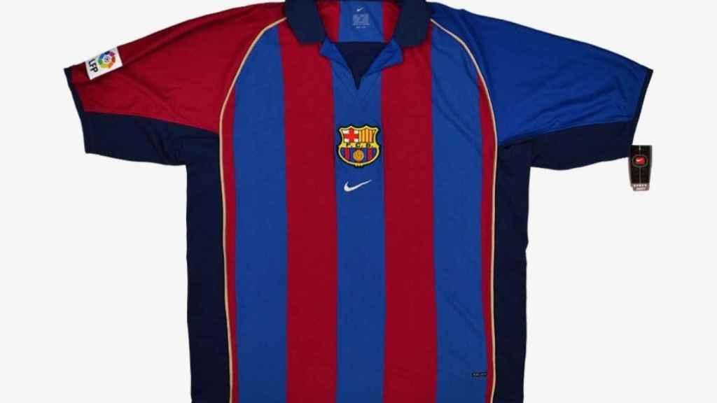 FC Barcelona - camiseta de la temporada 2001/2002