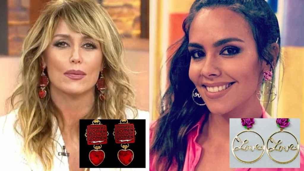 Emma García y Cristina Pedroche luciendo sus diseños de la firma de Marisa Jara.