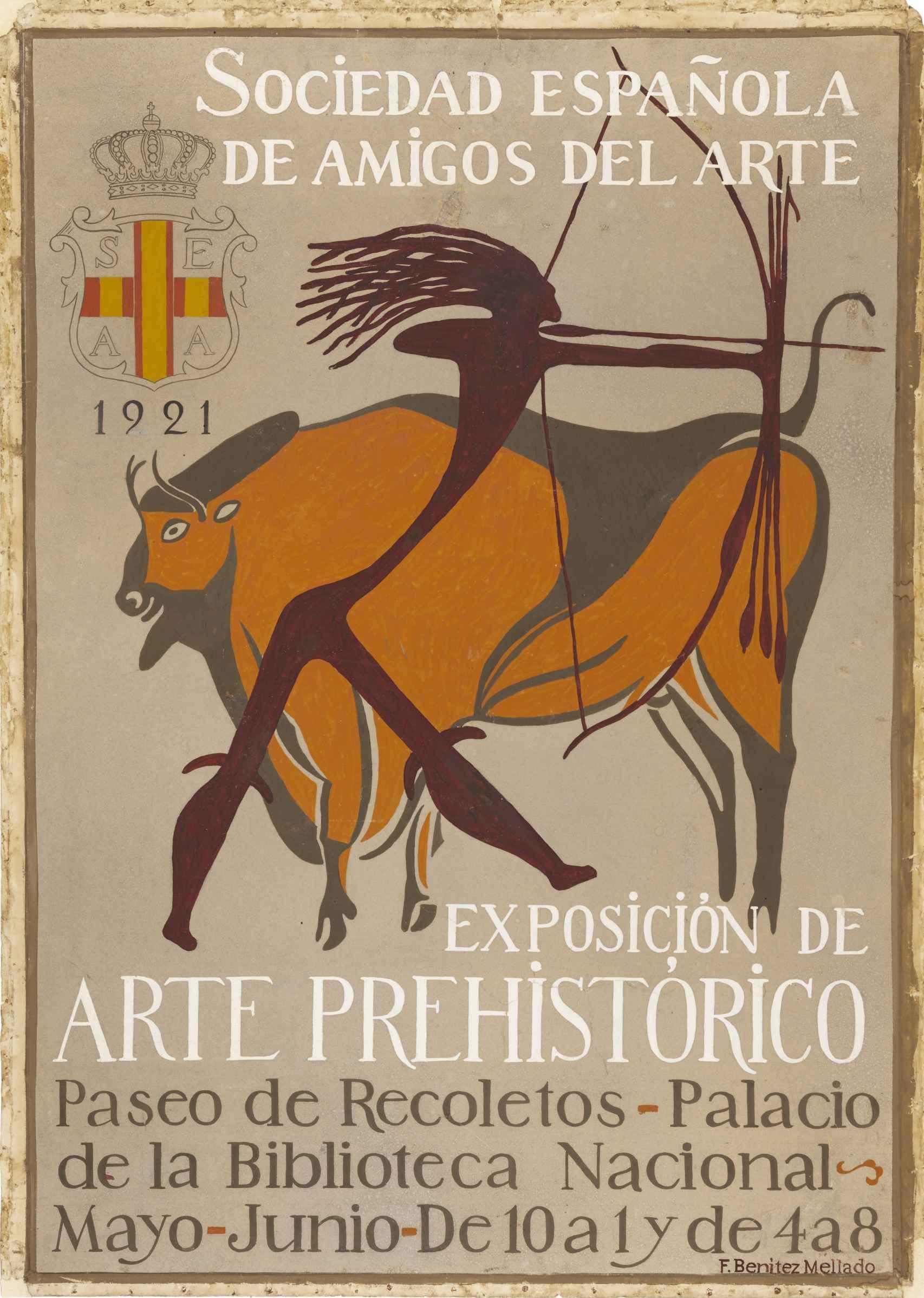 Cartel de la 'Exposición de Arte Prehistórico Español'.