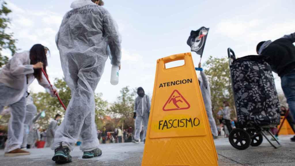 Alerta, fascismo, se ha podido leer en algunos carteles.
