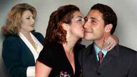 Rocío Jurado, Rocío Carrasco y Antonio David Flores, en un montaje de JALEOS.