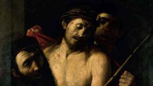 Ecce homo retirado de la subasta de la Casa Ansorena de Madrid este jueves y atribuido a Caravaggio.