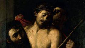 Ecce homo retirado de la subasta de la Casa Ansorena de Madrid y atribuido a Caravaggio.