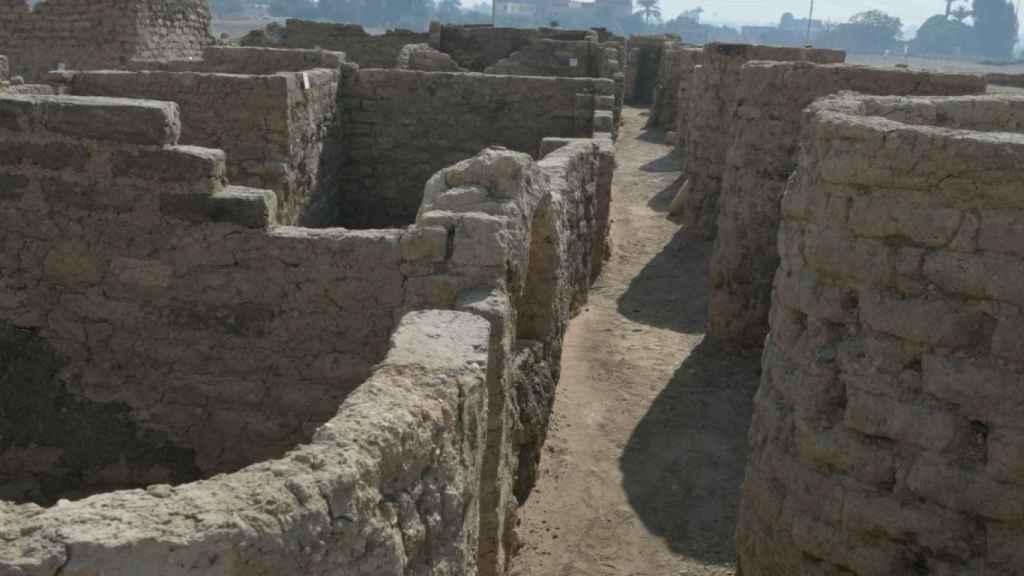 Restos de la ciudad perdida de 'El Ascenso de Atón'.