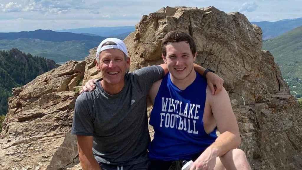 Lance Amstrong junto a su hijo Luke