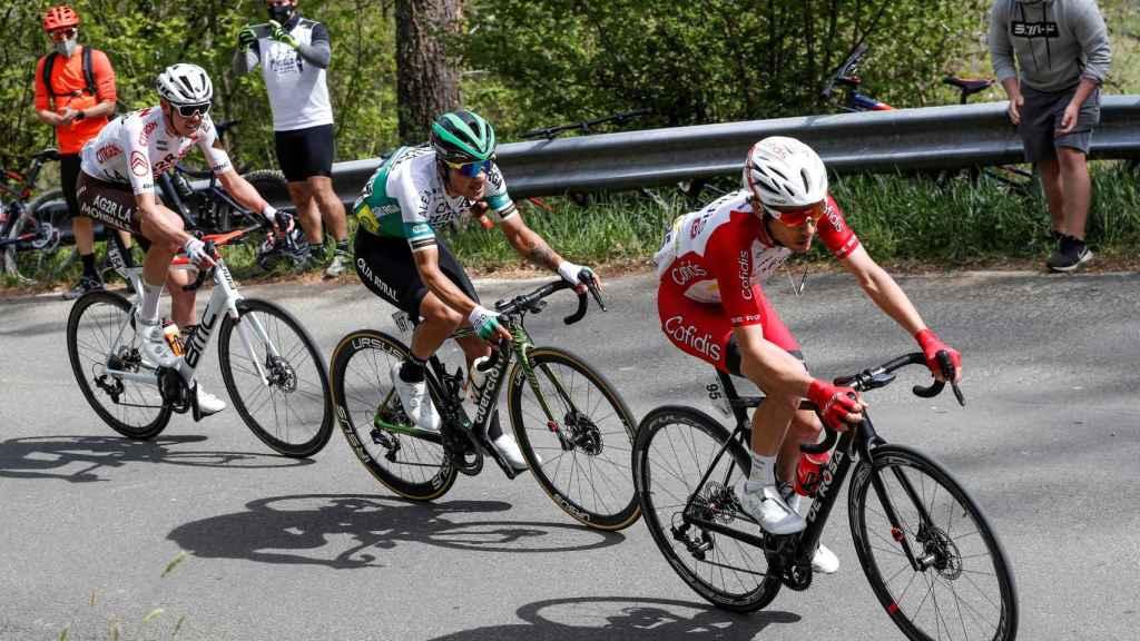 Martin, O'Connor y Cepeda en la escapada de la etapa 4 de la Itzulia