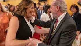 La secretaria general del PSOE-A, Susana Díaz, y el presidente de la Diputación de Sevilla, Fernando Rodríguez Villalobos.