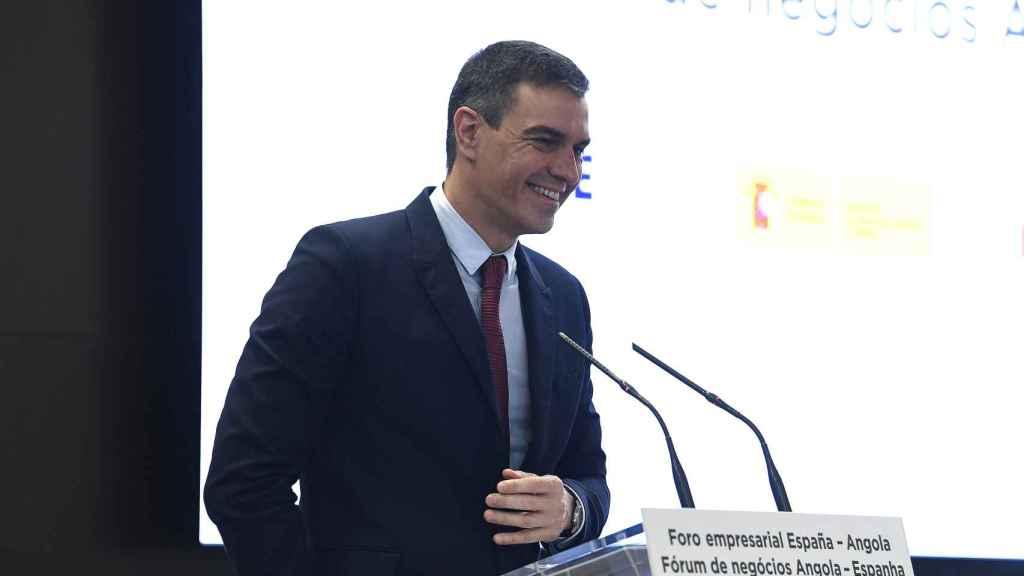 Pedro Sánchez, en el foro empresarial España-Angola, celebrado en Luanda.