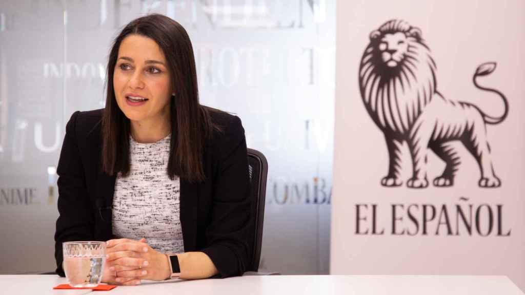 Inés Arrimadas, durante su entrevista con El Español.