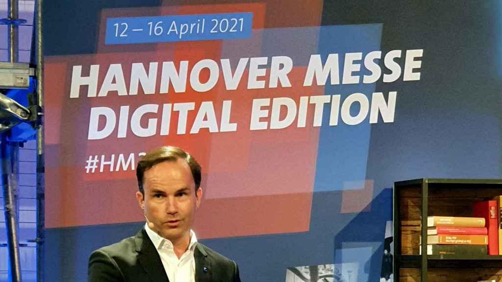 Jochen Köckler, director general de Deutsche Messe, durante el evento de presentación de la feria.