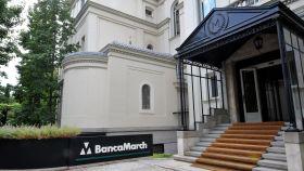 Exteriores de la sede central de Banca March en Madrid.