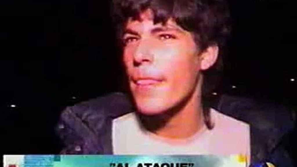 Césareo 'El Chicharra' en el vídeo que lo hizo famoso.