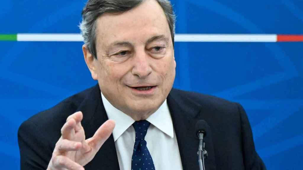 Mario Draghi, primer ministro de Italia.