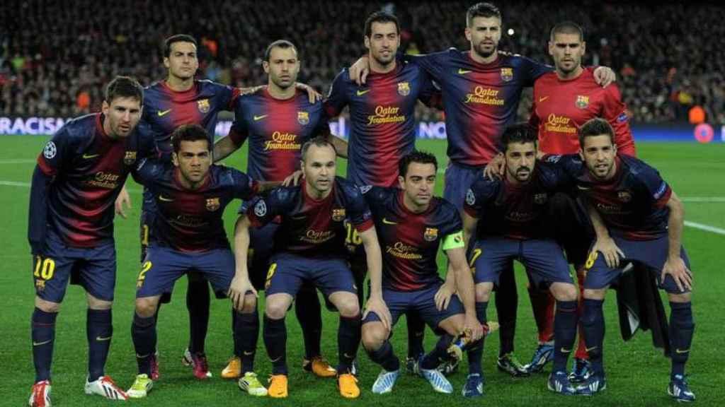 Alineación del Barcelona 2012/2013