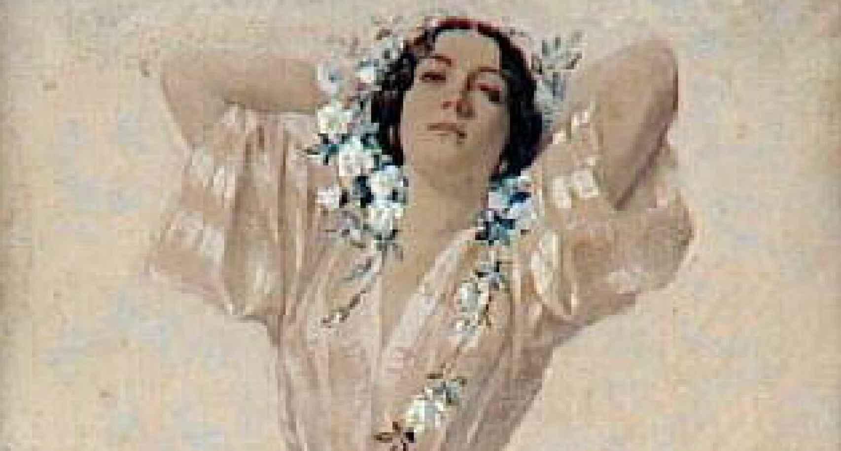 Retrato de Apollonie Sabatier de Vincent Vidal.