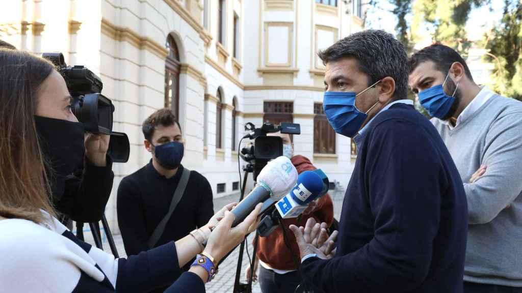 El presidente de la Diputación de Alicante, Carlos Mazón, este viernes.