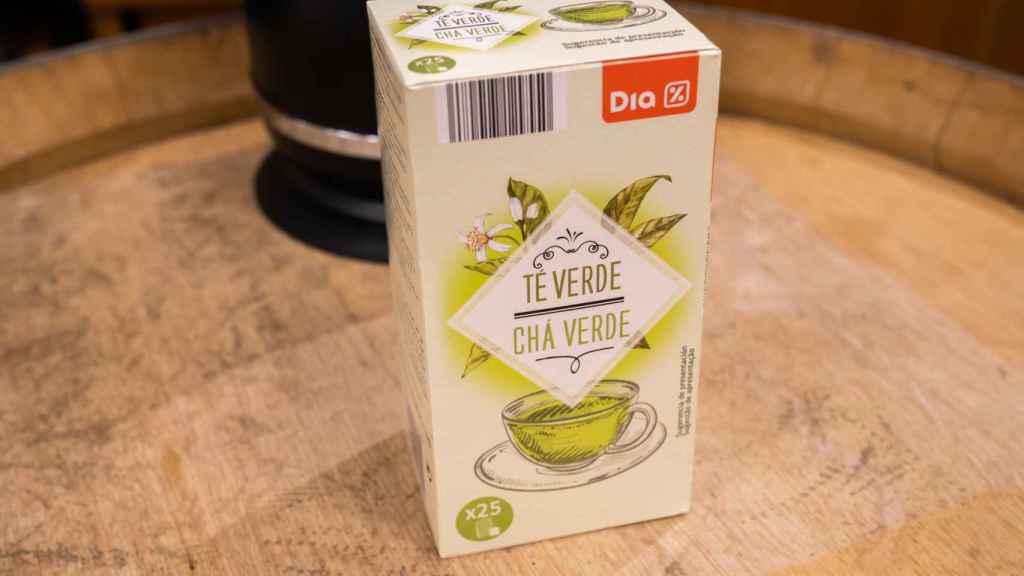 La caja de té verde de Dia.