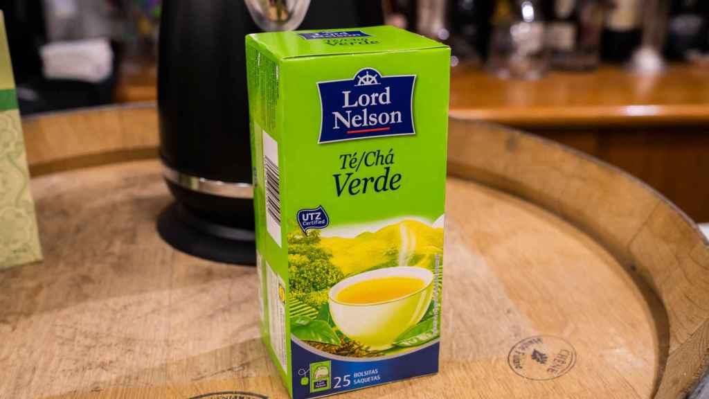 La caja de té verde de Lord Nelson, la marca blanca de Lidl.