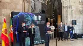 El director gerente del Marq Josep Albert Cortés en la presentación de 'Ídolos', junto a Uribes, Soler y Bueno.