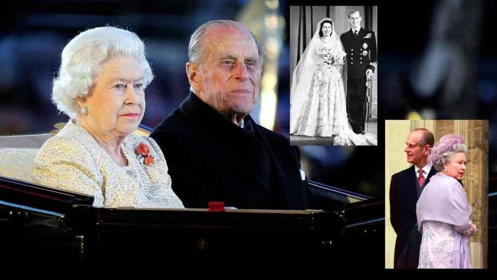 Felipe de Edimburgo e Isabel II en montaje de JALEOS.