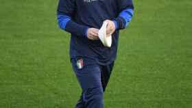 Daniele De Rossi durante la concentración de la selección italiana de fútbol