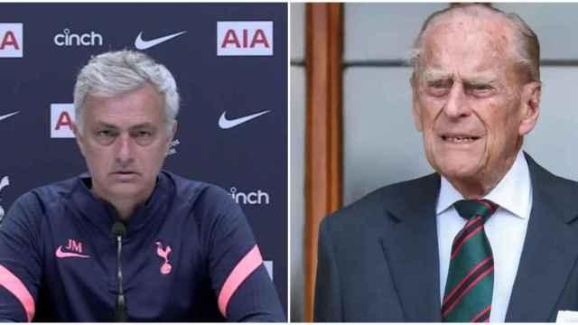 Mourinho y Felipe de Edimburgo
