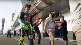Valentino Rossi en el circuito de Losail