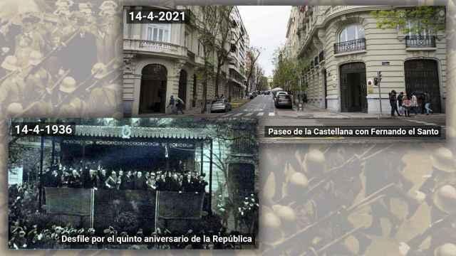 En el Paseo de la Castellana, esquina con Fernando el Santo, estuvo la tribuna presidencial.