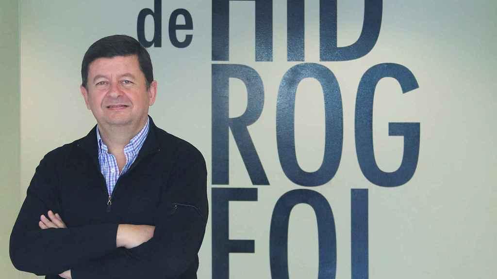 Jaime Gómez-Hernández, en la sede del Grupo de Hidrogeología del Instituto de Ingeniería del Agua y Medio Ambiente en la CPI-UPV.