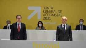 Rafael del Pino e Ignacio Madridejos en la Junta General de Accionistas 2021.