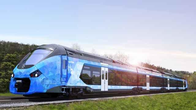 Un tren de hidrógeno de Alstom.