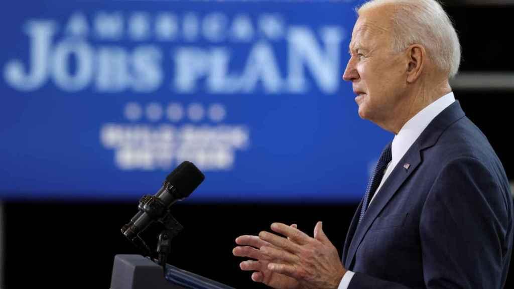 El presidente de EEUU, Joe Biden, en la presentación de su plan de inversión.