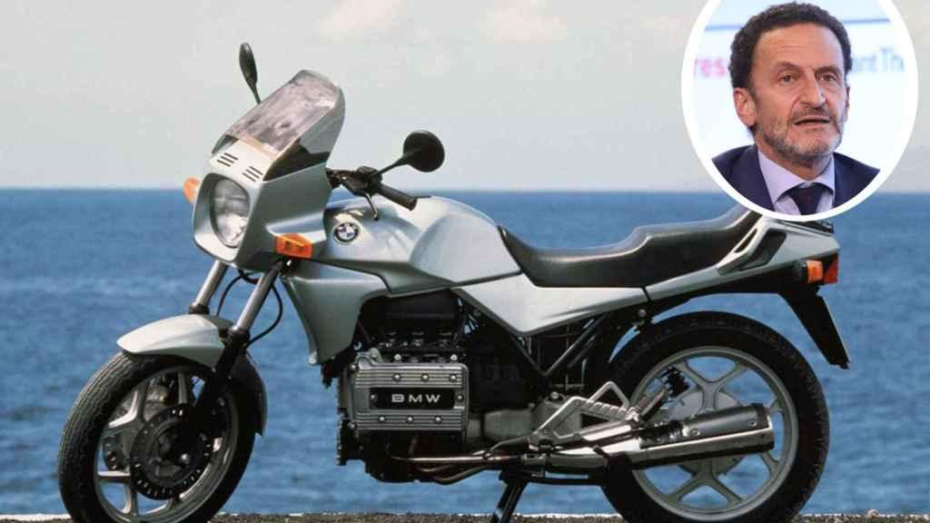La BMW K75 de Edmundo Bal es una moto muy admirada entre los moteros.