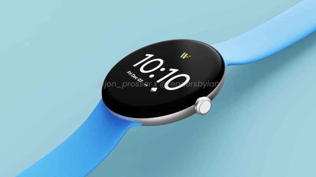 Posible diseño del Google Pixel Watch