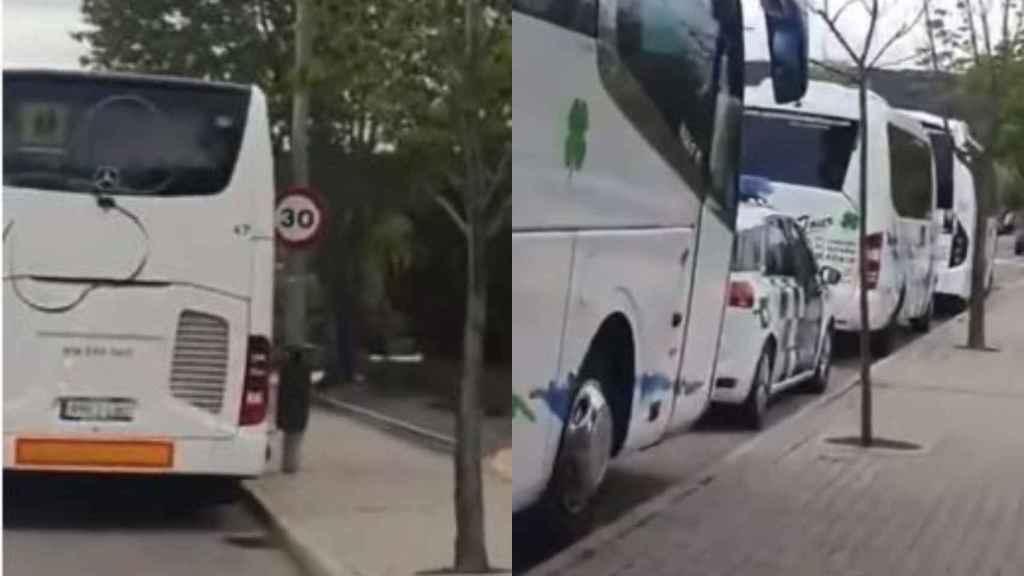 Imágenes del vídeo compartido por un vecino de Las Rozas.