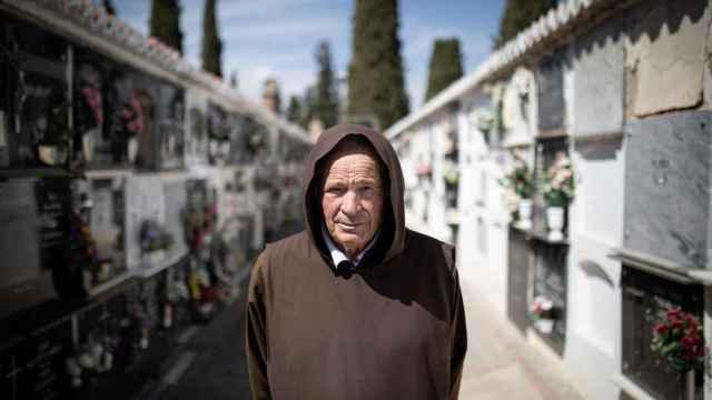 Fray Hermenegildo, superior de la congregación de los hermanos Fossores de Guadix (Granada).