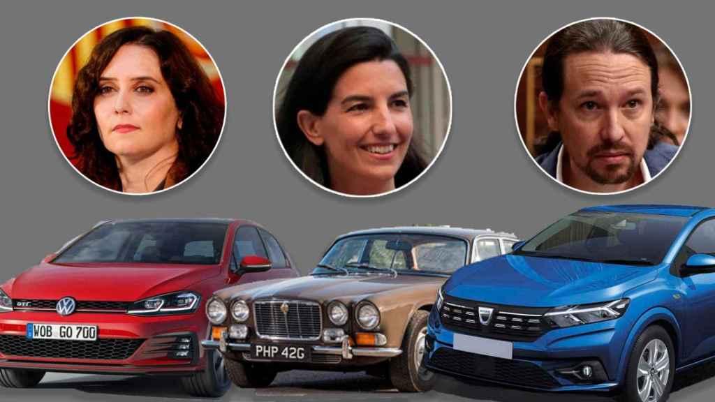 Ayuso, Monasterio e Iglesias junto a sus coches.