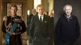 Matt Smith, Tobias Menzies y Jonathan Pryce, los tres Felipes de Edimburgo de 'The Crown'.