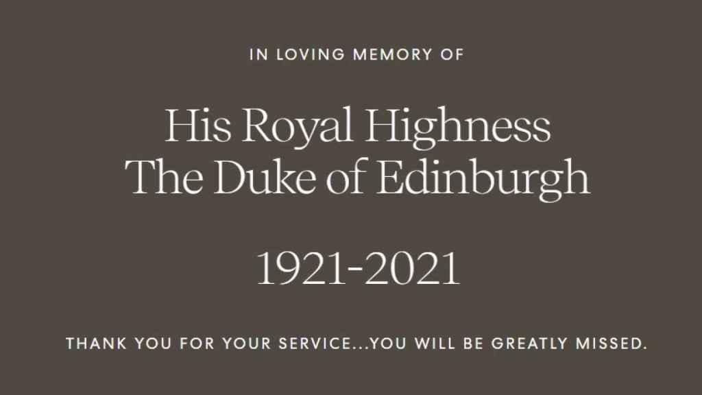 Este es el mensaje que se ve al acceder a la página web de la fundación de Harry y Meghan.