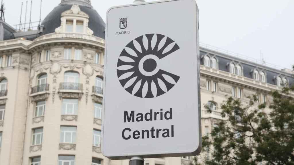 Imagen del área restringida de Madrid.