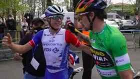 Roglic y Gaudu celebran sus éxitos en la Vuelta al País Vasco