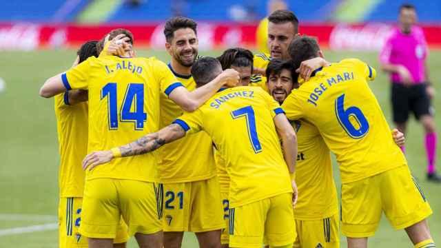 El Cádiz celebra un gol