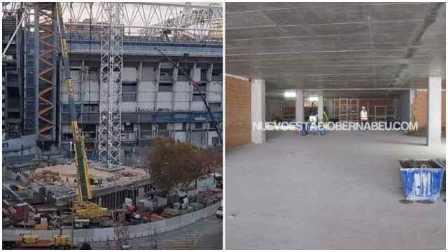 El interior del parking del Santiago Bernabéu