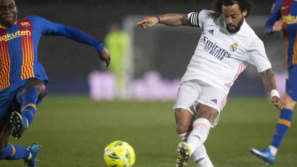 Marcelo arranca un contragolpe del Real Madrid