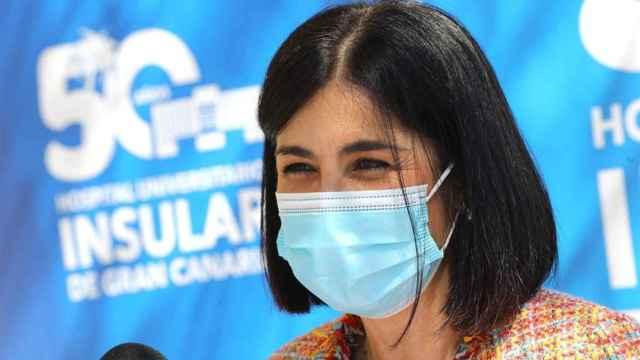 La ministra de Sanidad, Carolina Darias, este sábado en Gran Canaria.