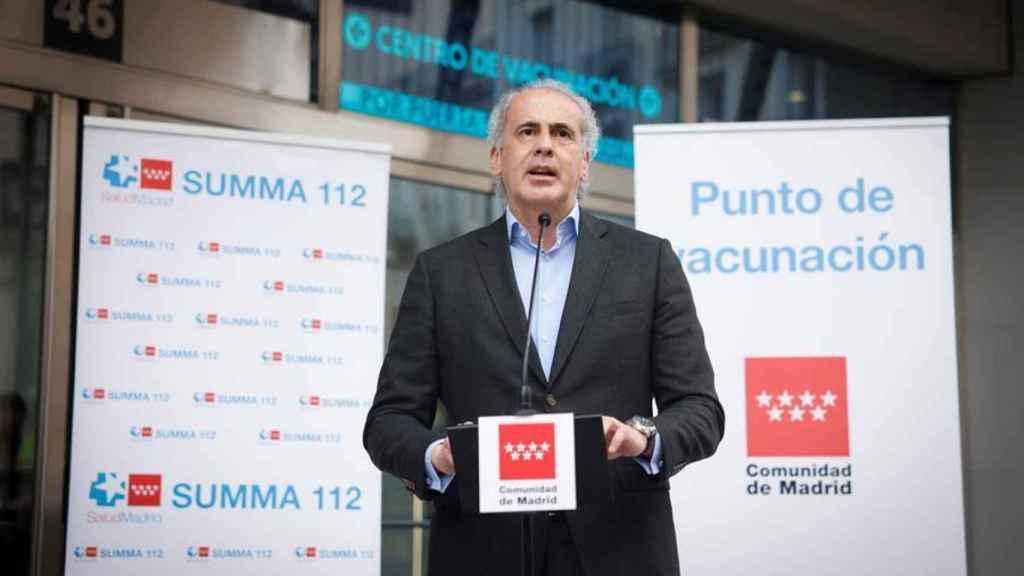El consejero de Sanidad de Madrid, Enrique Ruiz Escudero.