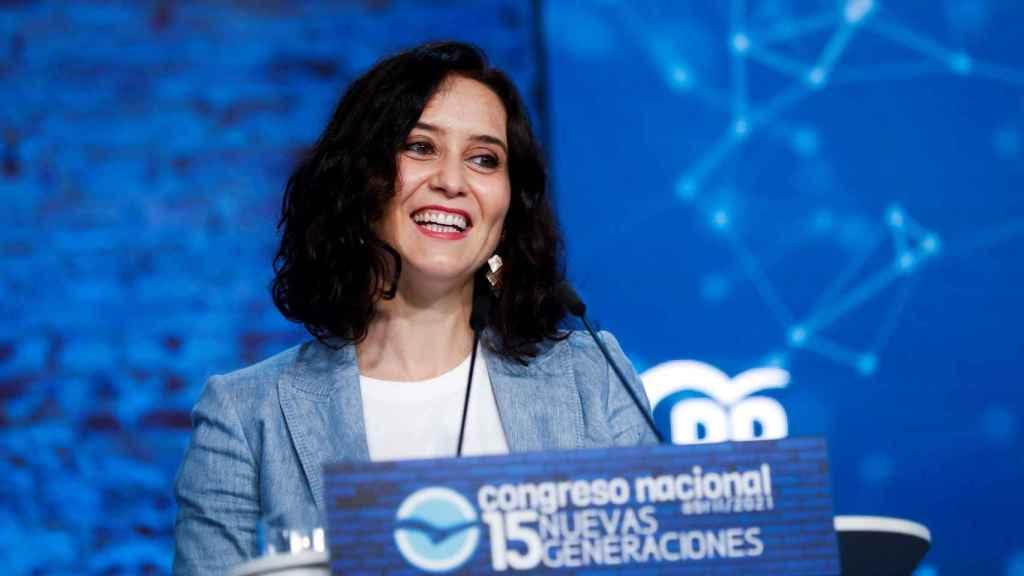 Isabel Díaz Ayuso, presidenta de la Comunidad de Madrid  y candidata del PP a la reelección.