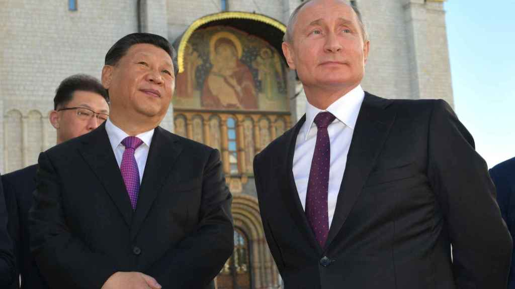 Xi Jinping y Vladimir Putin, presidentes de China y Rusia.